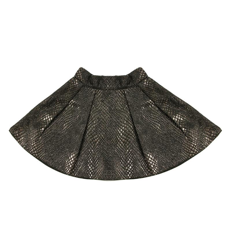 Python high-waisted  skirt