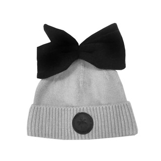 Bow Hat Grey