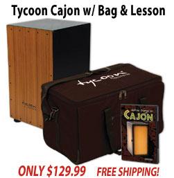 Free Cajon Bag and DVD with Tycoon Supremo Cajon