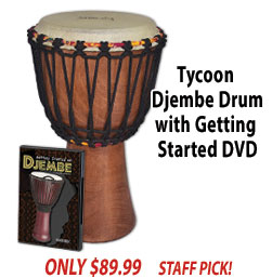 Djembe Drum with Getting Started DVD