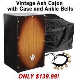 Free Cajon Case with Vintage Ash Cajon