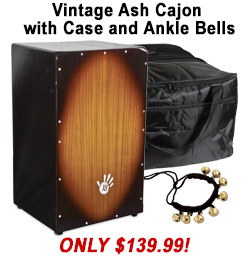 Free Cajon Case with Vintage Ash Cajon