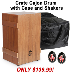 Free Cajon Bag with Crate Cajon