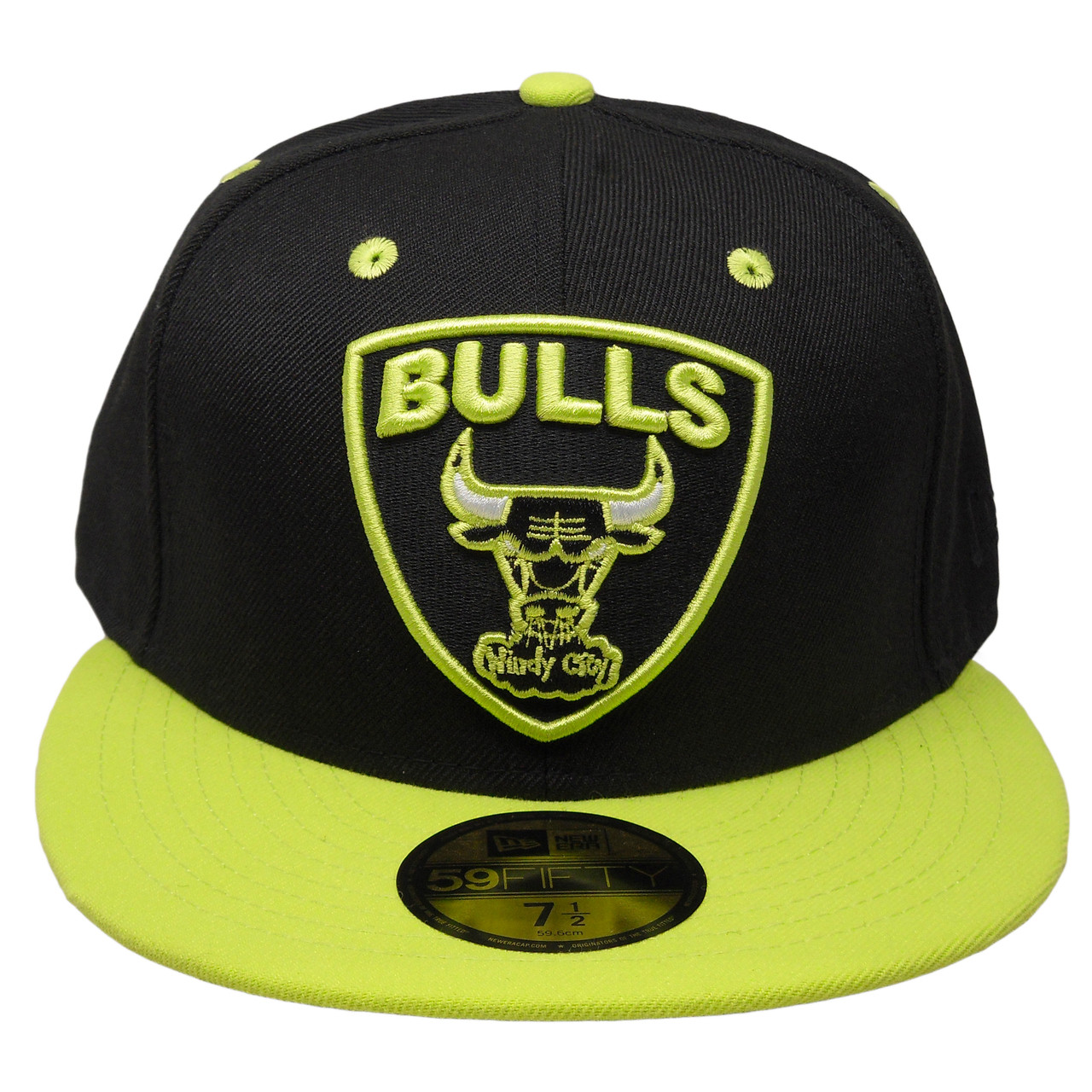 e1631c13a8d Chicago Bulls New Era Custom 59Fifty Fitted Hat - Black