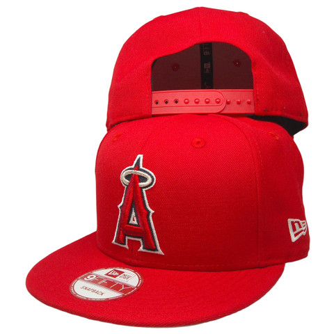 Anaheim Angels New Era Scarlet 1961 9Fifty Snapback - Red, Silver, Navy, White