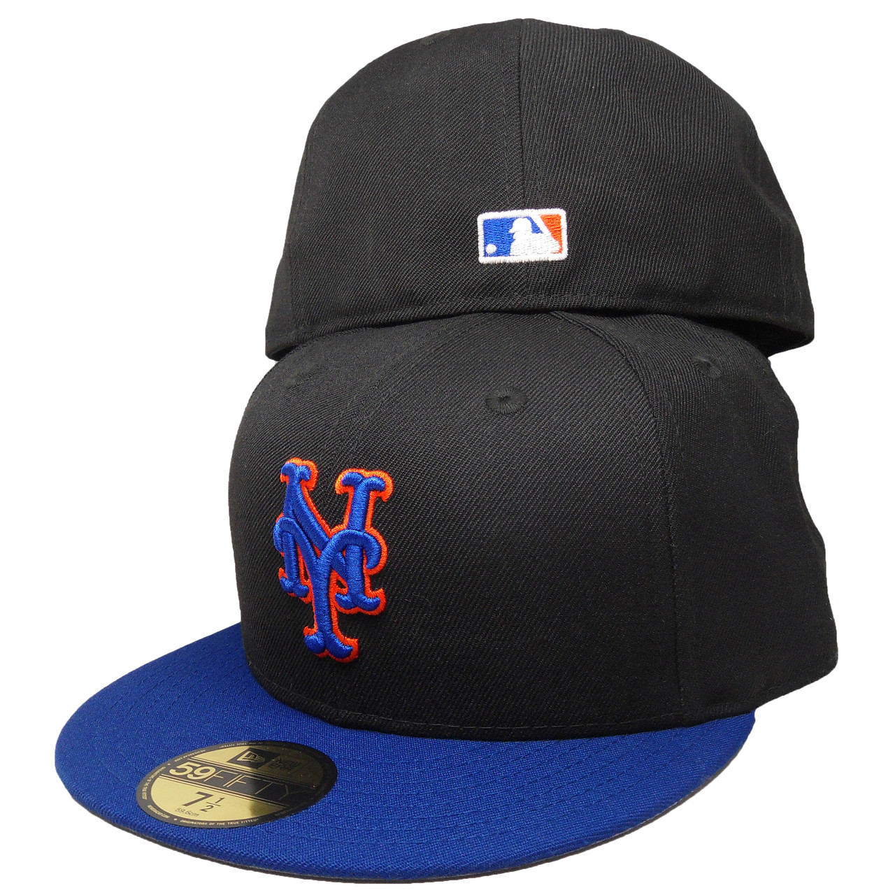 New York Mets Custom New Era 59Fifty Fitted Hat - Black 35bca09fa8a