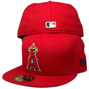"Anaheim Angels New Era Custom Fitted ""50th Anniversary"" - Red, Gold, White"