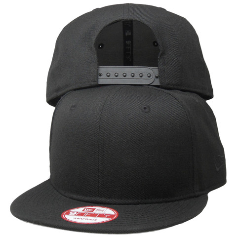 Plain New Era Custom 9Fifty Snapback Hat - Black - ECapsUnlimited.com 0362fde745d