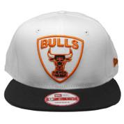 Chicago Bulls New Era Custom 59Fifty Snapback Hat - White, Black, Rust