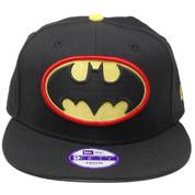 Batman New Era Custom Kids 9Fifty Snapback Hat - Black, Yellow, Red