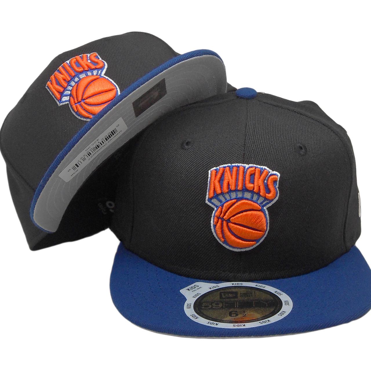 New York Knicks New Era Kids Custom 59Fifty Fitted Hat - Black ... a162a56f133