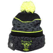 Chicago Bulls New Era Polar Print Knit - Graphite Gray, Black, Lime Green