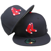 Boston Red Sox New Era 59Fity Alternate Collection Fitted Hat - Navy Blue, Red