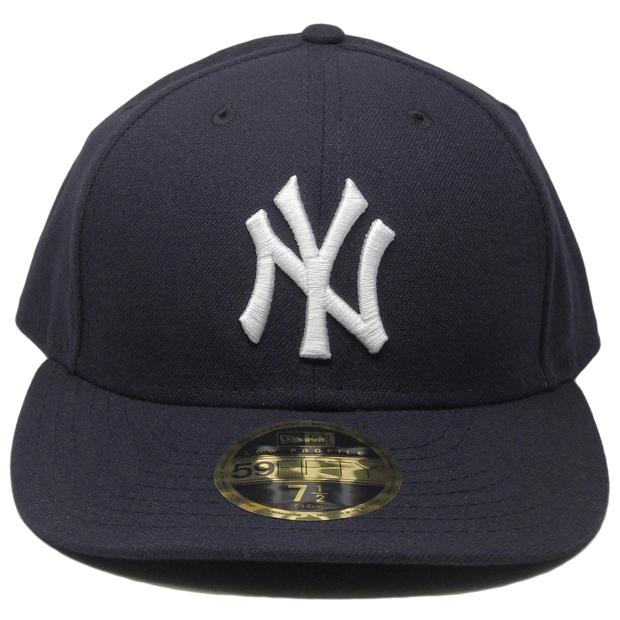 New York Yankees New Era 59Fifty Low Profile Fitted Hat - Navy ... 71c2d0a2fea