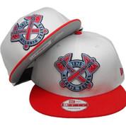 Atlanta Braves New Era 9Fifty Custom Snapback - White, Hot Red, Carolina Blue