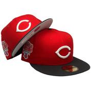 Cincinnati Reds New Era 59Fity Custom Fitted Hat - Red, Black, White