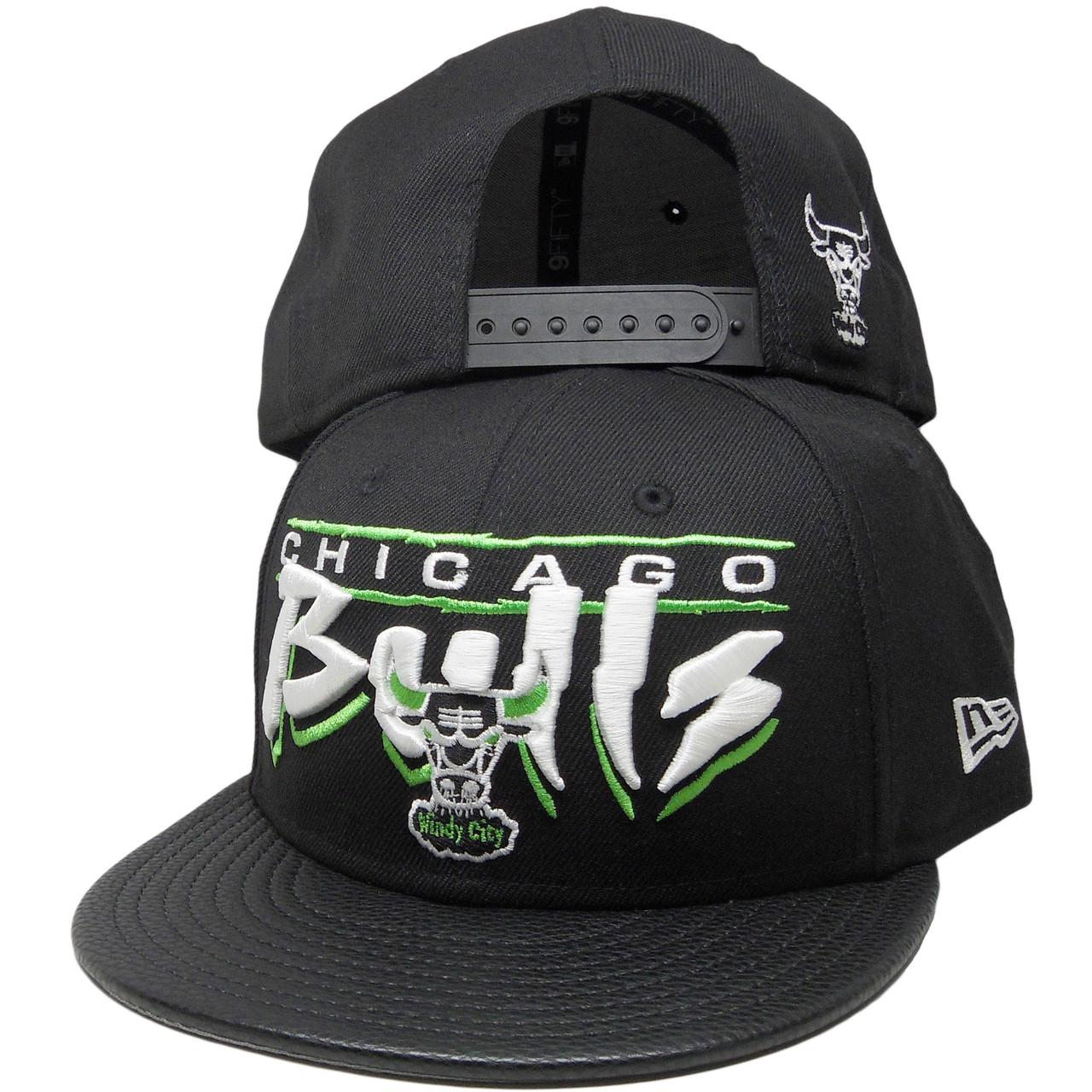 Chicago Bulls New Era 9Fifty Custom Snapback Hat - Black 0797424589ce