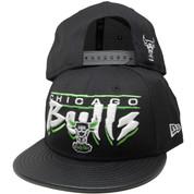 Chicago Bulls New Era 9Fifty Custom Snapback Hat - Black, Lime Green, White