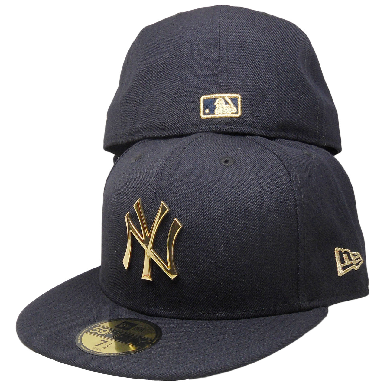 New York Yankees New Era Custom 59Fifty Fitted Hat - Navy 2bc3eb1cd715