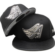Anaheim Angels New Era Custom 59Fifty Fitted Hat - Black, Gray, Silver