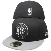 Brooklyn Nets New Era 59Fity 2Tone Fitted Hat - Black, Gray, White