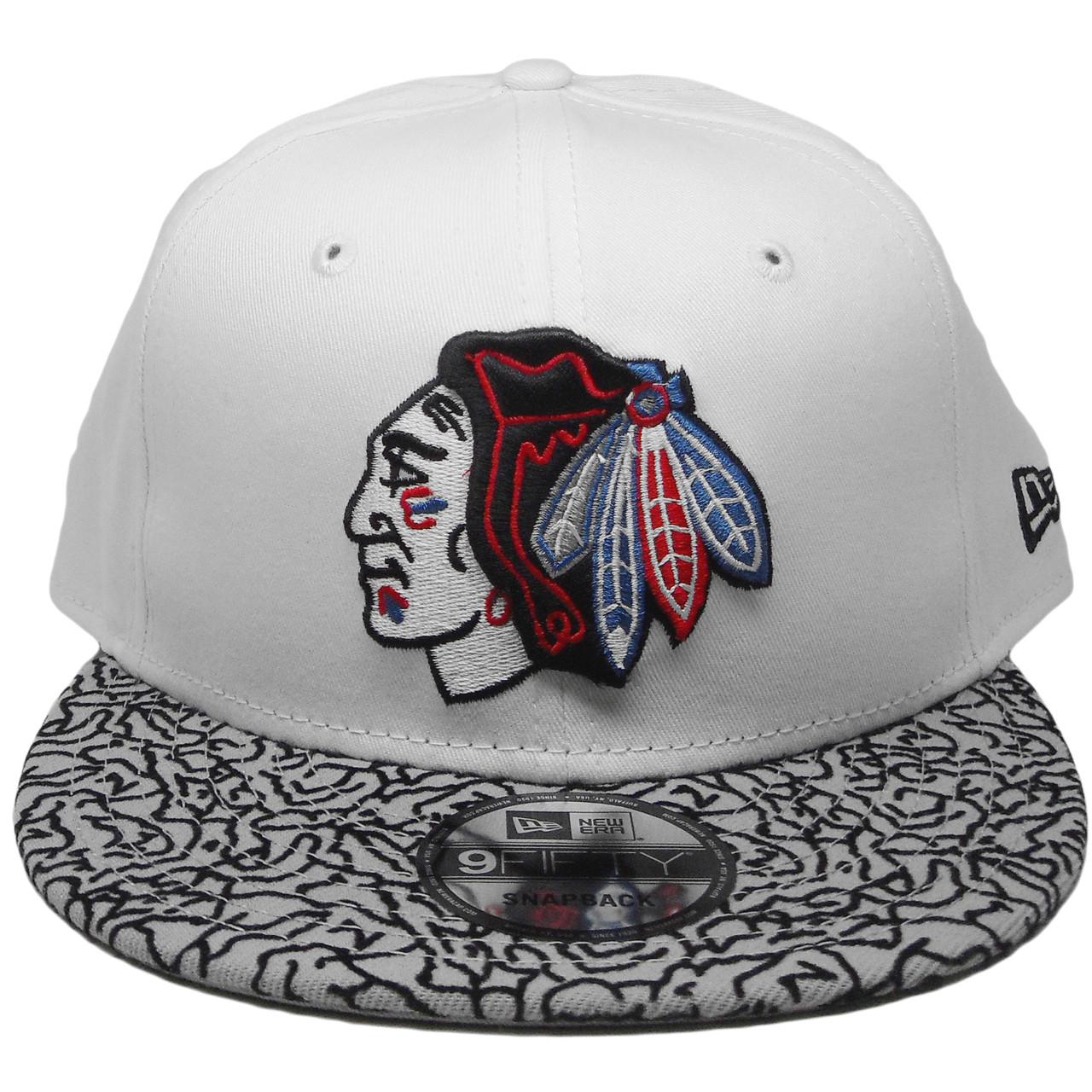 8939001b65e Chicago Blackhawks New Era 9Fity Custom Snapback Hat - White