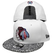 Chicago Blackhawks New Era 9Fity Custom Snapback Hat - White, Cement, Red