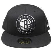 Brooklyn Nets New Era 59Fifty Classic Wool Fitted Hat - Black, White