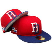 Dominican Republic New Era 59Fifty JR WBC17 Fitted Hat - Red, Royal, White