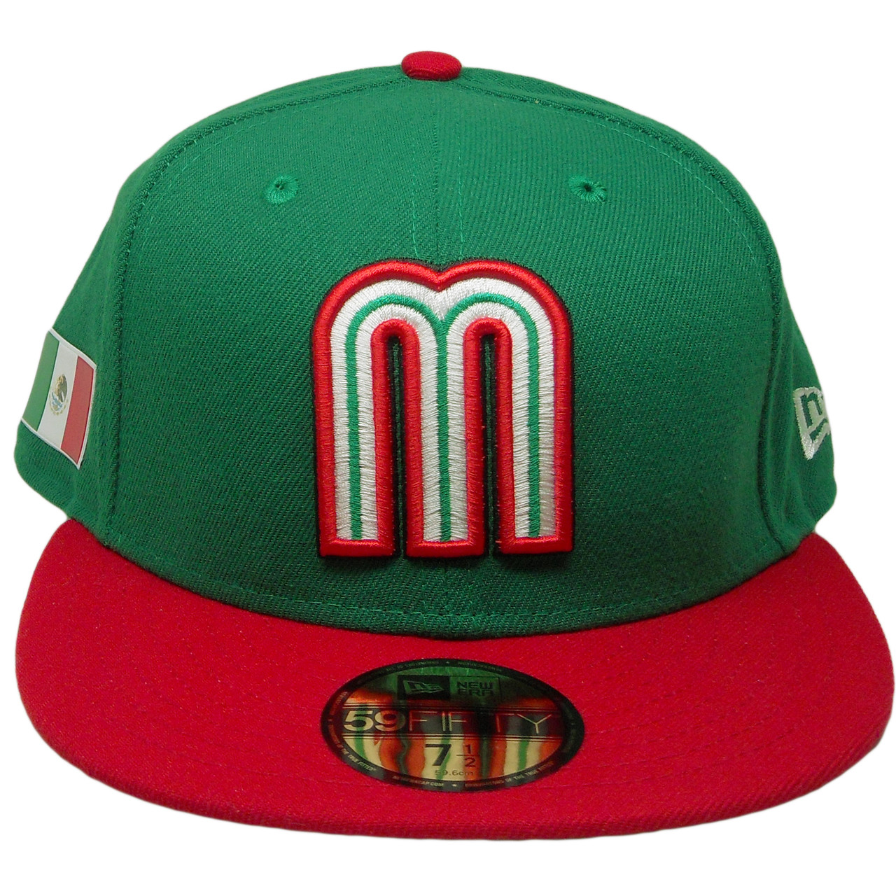 Mexico New Era 59Fifty JR WBC17 Fitted Hat - Green 3d226902b419