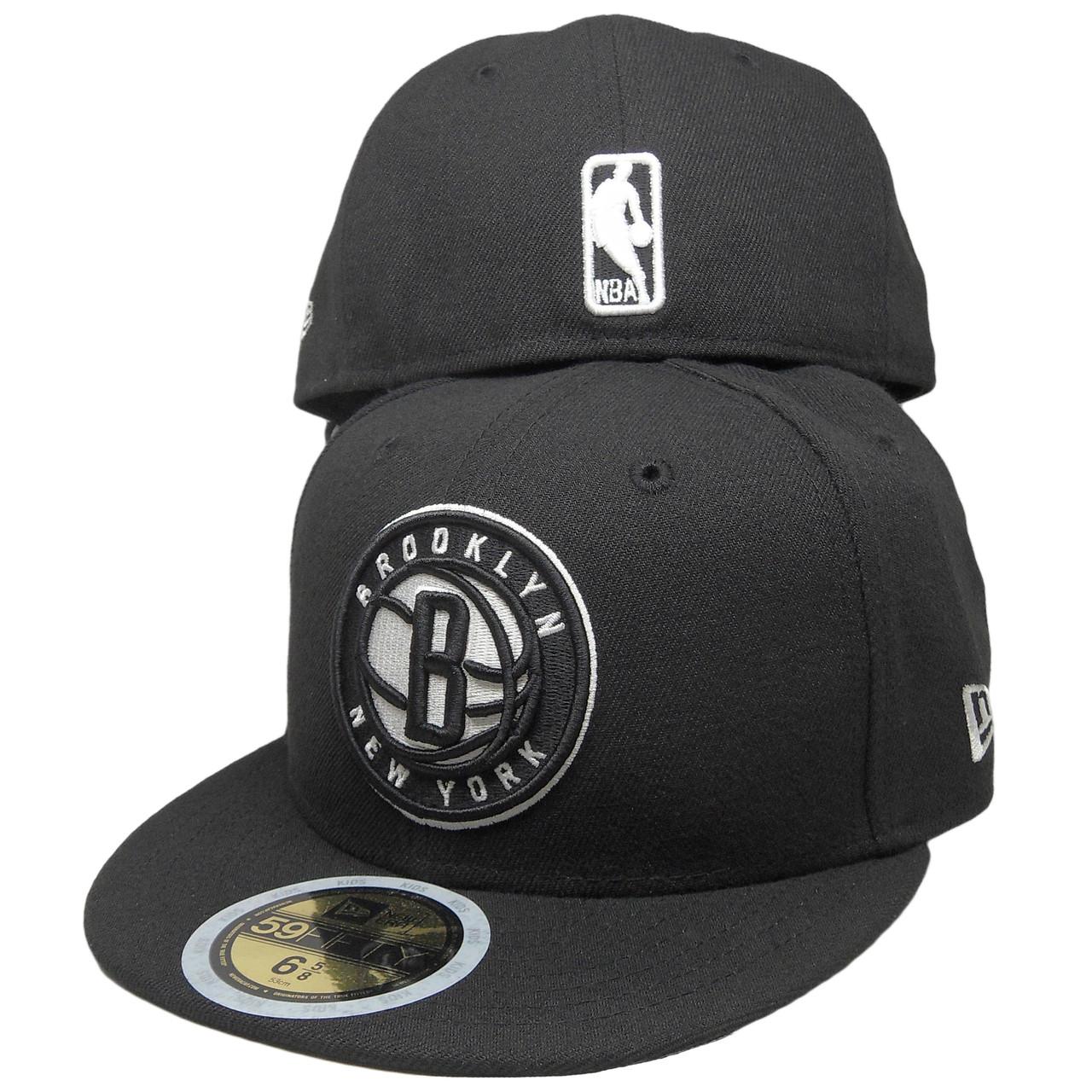 e416712356526 Brooklyn Nets New Era 2017 Basic KIDS fitted Hat - Black