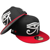 Eye of Horus Side Stars New Era Custom 59Fifty Fitted Hat - Black fd6030bacdb4