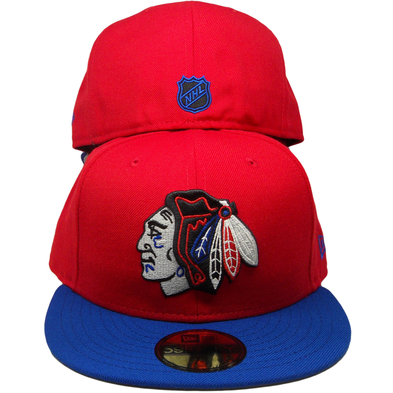 fb7570617d9 Chicago Blackhawks New Era Custom 59Fifty Fitted Hat - Red