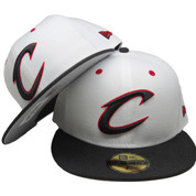 Cleveland Cavaliers New Era Custom 59Fifty Fitted Hat - White, Black, Red