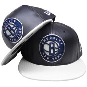 Brooklyn Nets New Era Custom 59Fifty Fitted AJ 11 - Navy Leather, White Leather