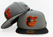 Baltimore Orioles New Era 59Fifty Fitted Hat - Storm Gray, Black, Orange