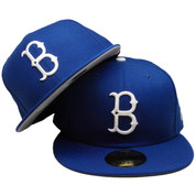 Brooklyn Dodgers Custom Gray Bottom 59Fifty Fitted Hat - Royal, White