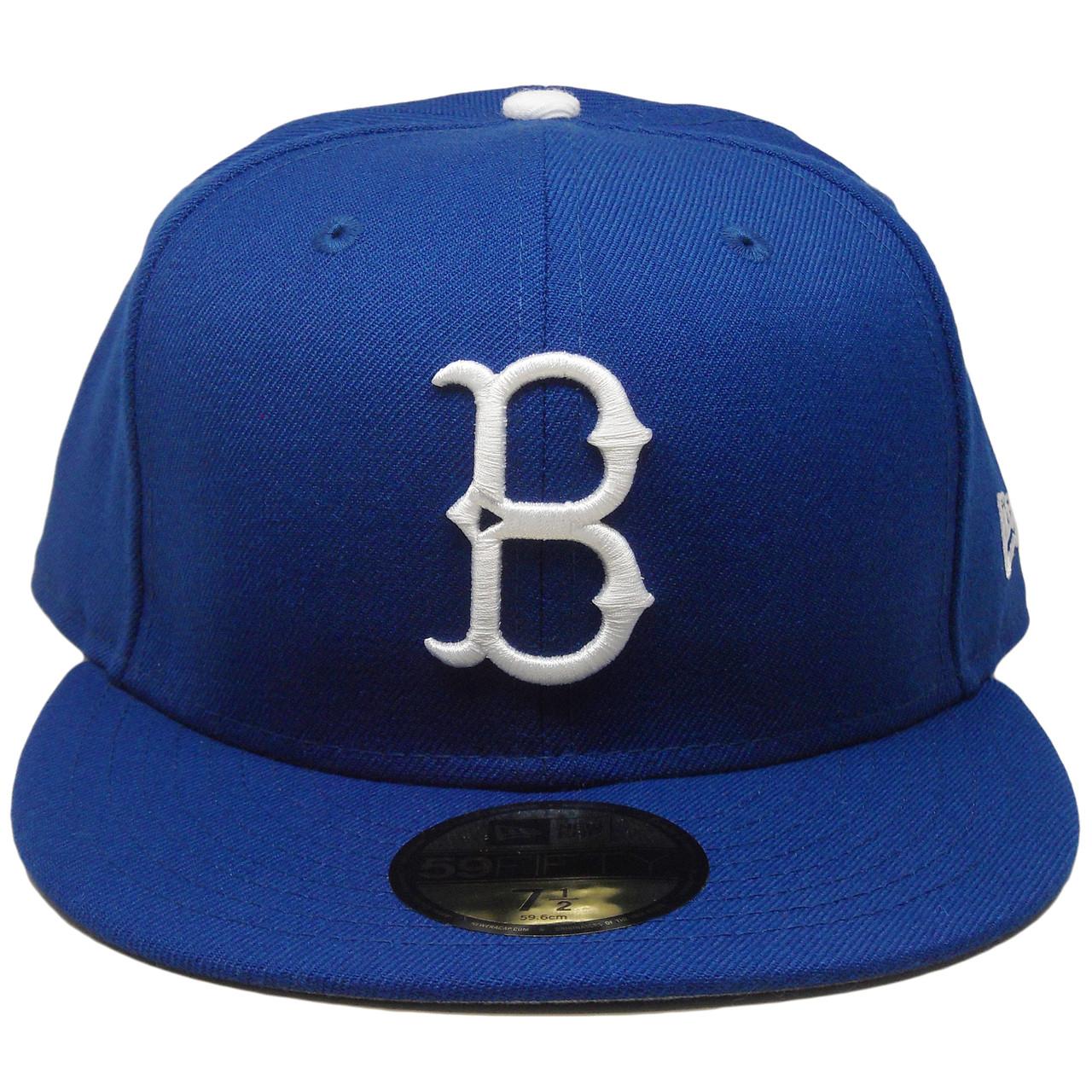 Brooklyn Dodgers Custom Gray Bottom 59Fifty Fitted Hat - Royal ... 42db64520fa5