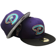 Arizona Diamondbacks Custom New Era Fitted - Purple, Black, Teal, Copper