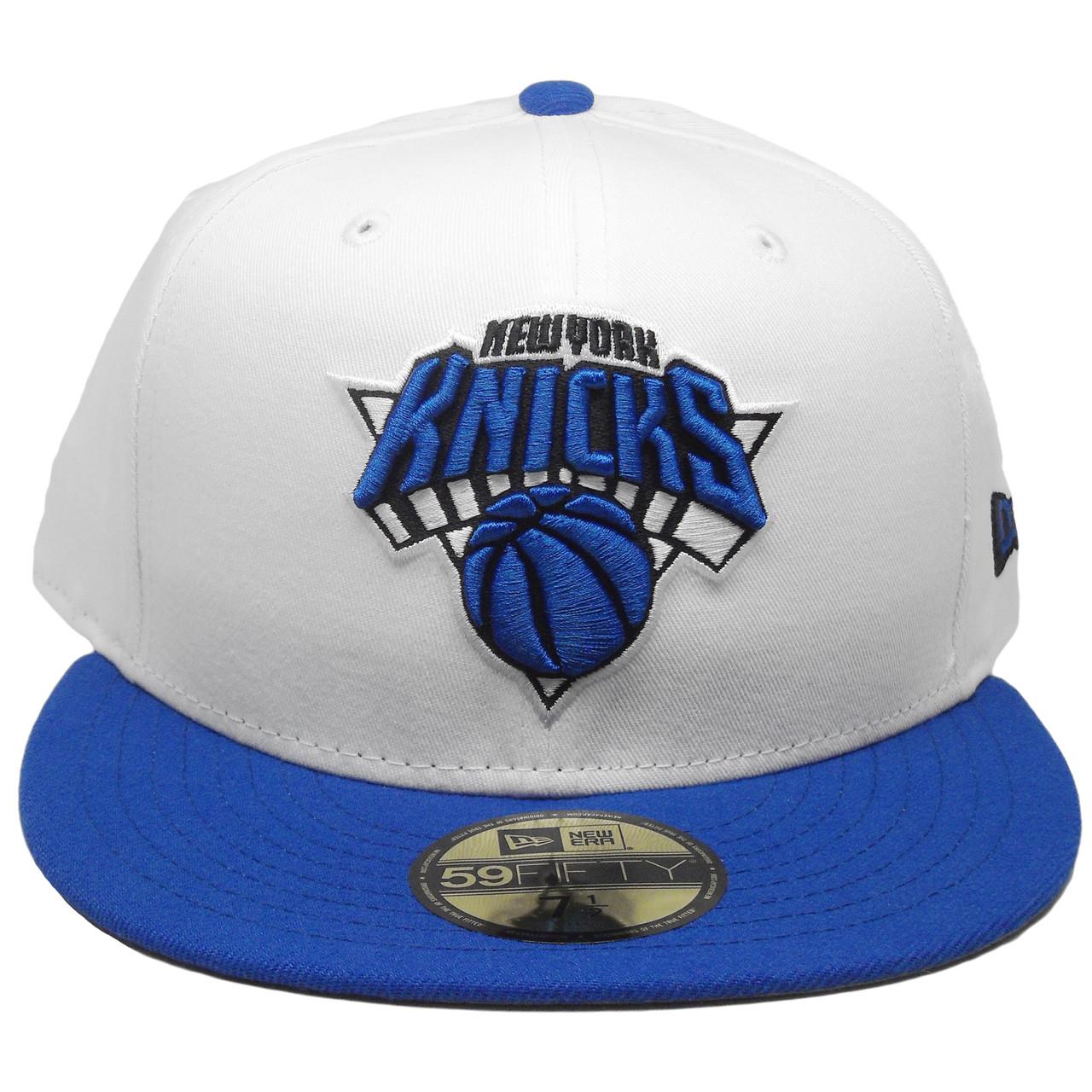 fdb4f207539 New York Knicks Custom New Era 59Fifty Fitted Hat - White