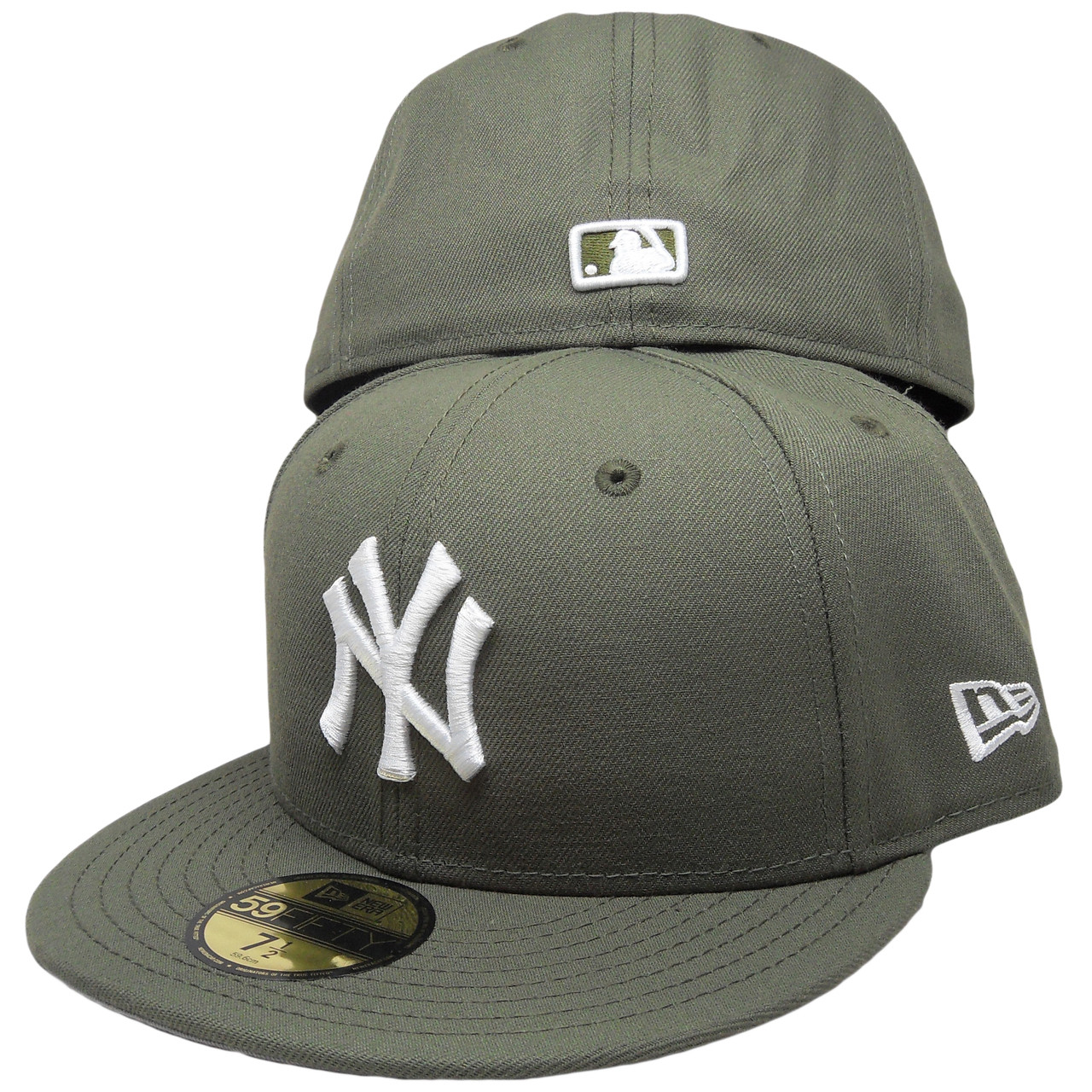 New York Yankees New Era Custom 59Fifty Fitted Hat - New Olive ... 53bb35ca82f8