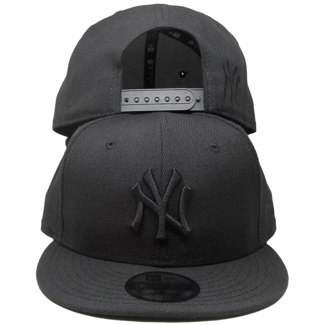 New York Yankees New Era Custom 9Fifty Snapback Hat - Black Tonal -  ECapsUnlimited.com cb36ec694d7