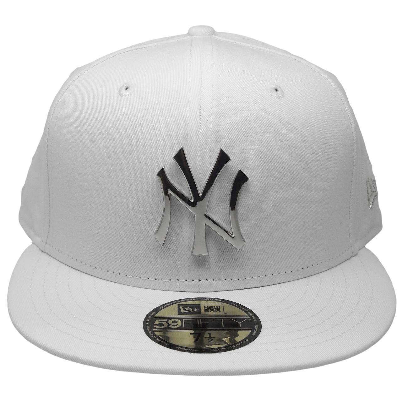 75c8841593de0 New York Yankees New Era Custom 59Fifty Fitted Hat - White