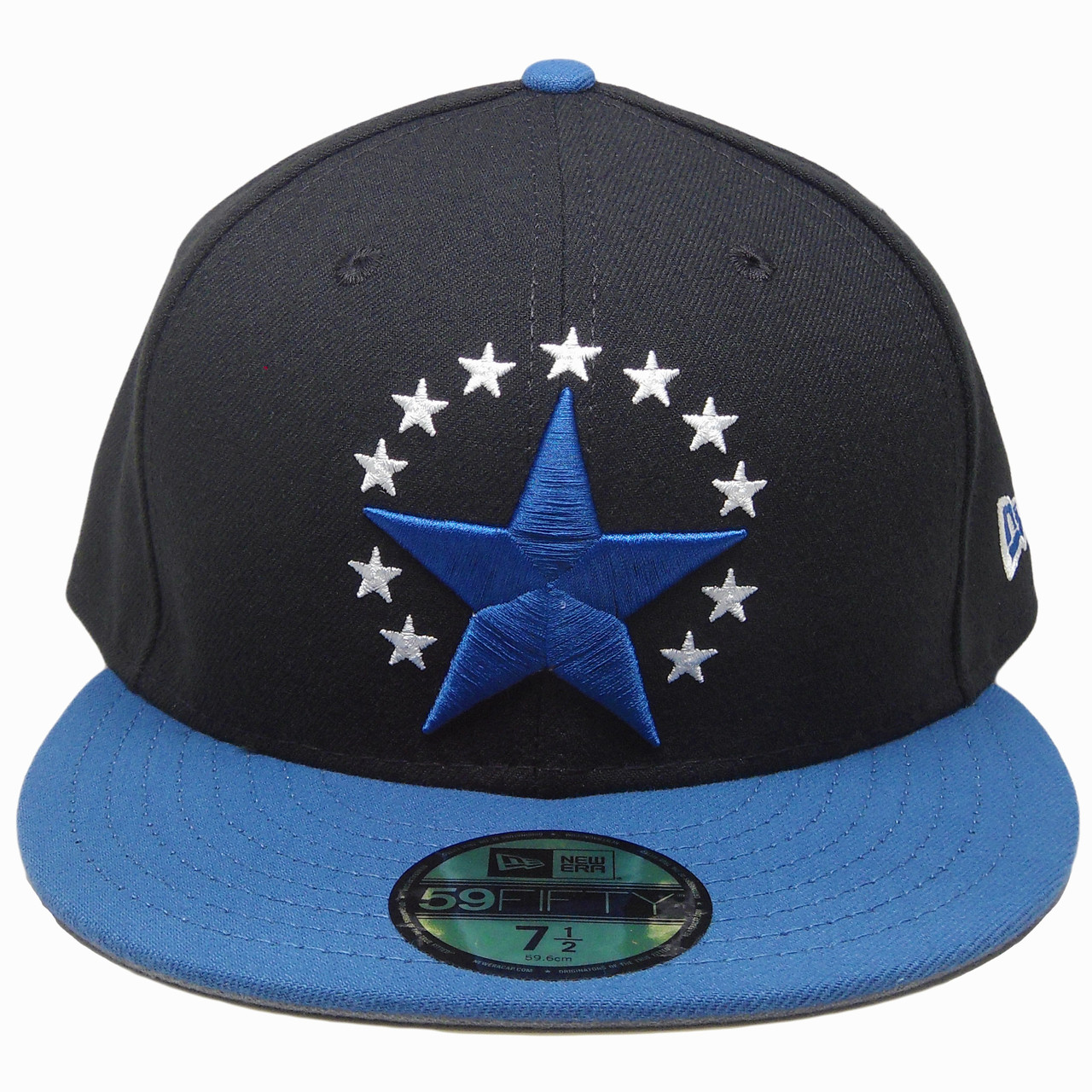 Stars New Era Custom made 59Fifty Fitted Hat - Black 8edd8e343e8
