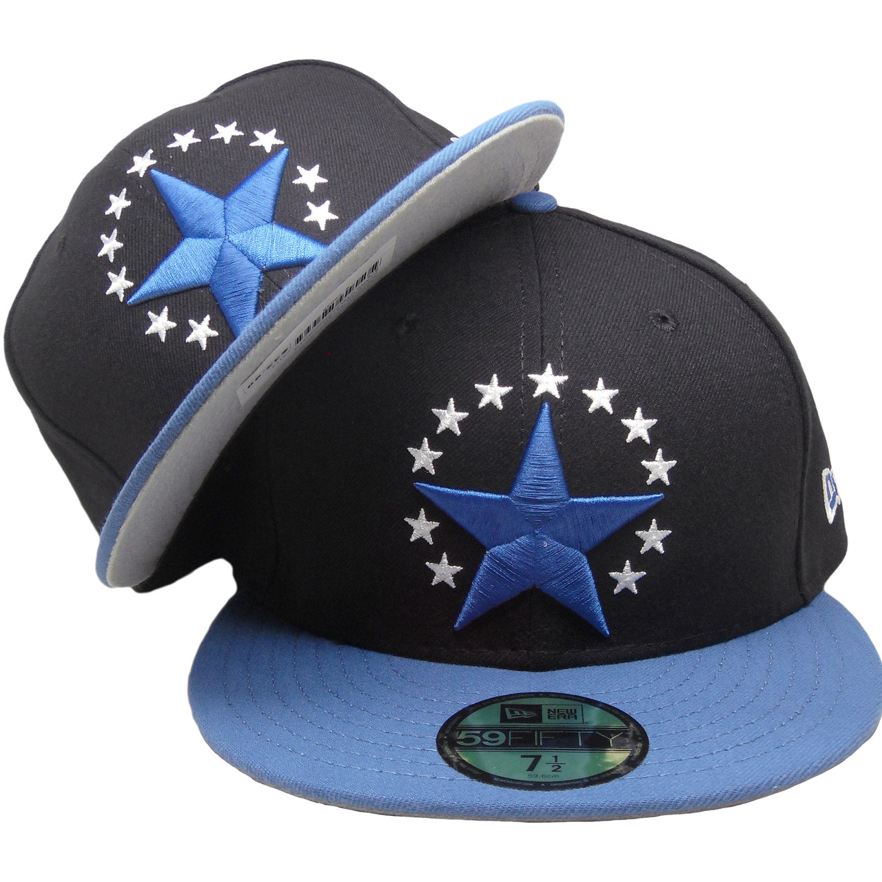 best loved 2fbb4 40007 Stars New Era Custom made 59Fifty Fitted Hat - Black,  Flint  Blue,. Larger    More Photos
