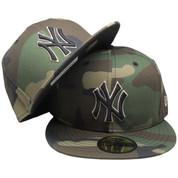 New York Yankees New Era Custom 59Fifty Fitted Hat - Camouflage, Black, Beige