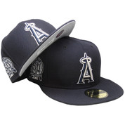 Anaheim Angels Custom New Era 59Fifty Fitted - Navy, Silver, White
