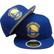 Golden State Warriors KIDS New Era 59Fity Basic Fitted Hat - Royal, Yellow, White