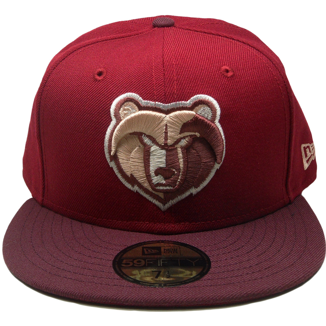 Memphis Grizzlies New Era Custom 59Fifty Fitted - Burgundy 52fc1ce206f