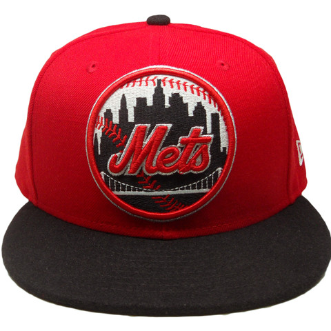 6b85a854f2ae5 ... hot new york mets new era custom 59fifty fitted hat red black silver  white ecapsunlimited 1aade